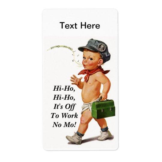 Vintage Fun Hi-Ho Whistler Work Retirement Labels