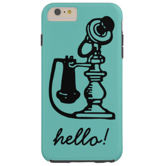 Vintage fun telephone and hello design tough iPhone 6 plus case