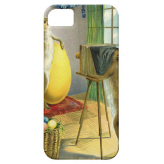 Vintage Funny Easter, Bunny Rabbit Photographer Case For The iPhone 5