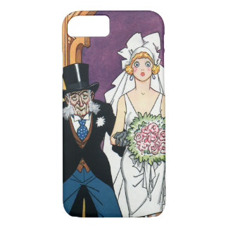Vintage Funny Wedding, May December Romance iPhone 7 Case