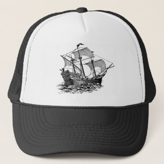 Vintage Galleon Ship Trucker Hat