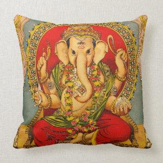 Vintage ganesha decor pillow