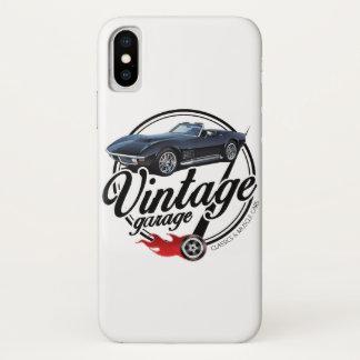 Vintage Garage Corvette Black iPhone X Case