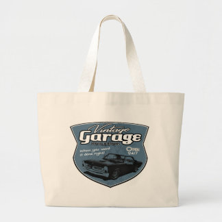 Vintage garage GTO Large Tote Bag