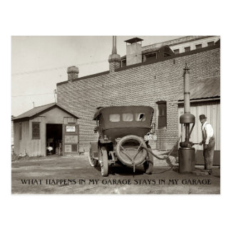 Vintage Garage Service Station  Custom Postcard