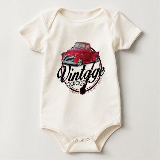 Vintage Garage Truck Baby Bodysuit