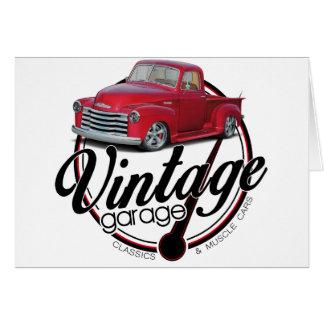 Vintage Garage Truck Card