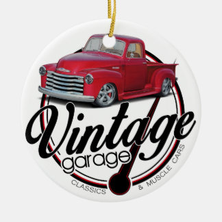 Vintage Garage Truck Ceramic Ornament
