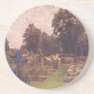 Vintage Garden Art - Martin Thomas Mower Beverage Coaster