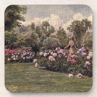 Vintage Garden Art - Martin Thomas Mower Beverage Coasters