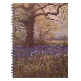 Vintage Garden Art - Martin Thomas Mower Spiral Notebook