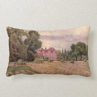 Vintage Garden Art - Martin Thomas Mower Throw Pillows