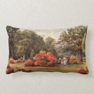 Vintage Garden Art - Martin Thomas Mower Throw Pillow