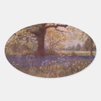 Vintage Garden Art - Martin Thomas Mower Oval Stickers