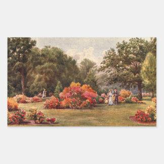 Vintage Garden Art - Martin Thomas Mower Rectangle Sticker