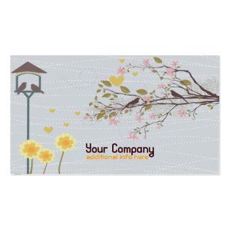 vintage garden business card slim