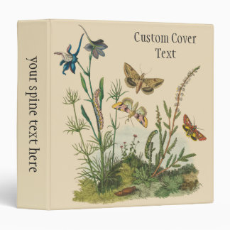 Vintage Garden Insects, Butterflies, Caterpillars 3 Ring Binders