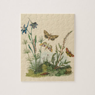 Vintage Garden Insects, Butterflies, Caterpillars Jigsaw Puzzle
