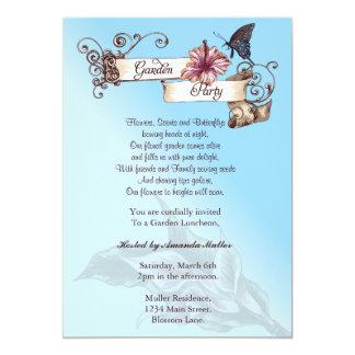 "Vintage Garden Party Invitation 5"" X 7"" Invitation Card"
