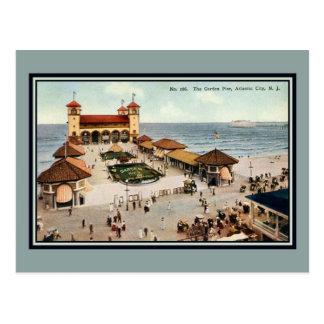 Vintage Garden Pier Atlantic City NJ Postcard