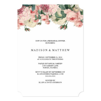 Vintage Garden | Rehearsal Dinner Invitation