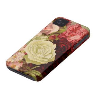 Vintage Garden Rose Flowers, Love and Romance iPhone 4 Covers
