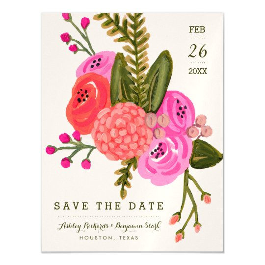 Vintage Garden Save the Date Magnetic Invitations