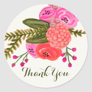 Vintage Garden Thank You Stickers