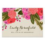 Vintage Garden Wedding Party Card