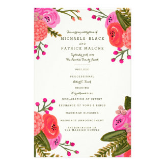 Vintage Garden Wedding Programs