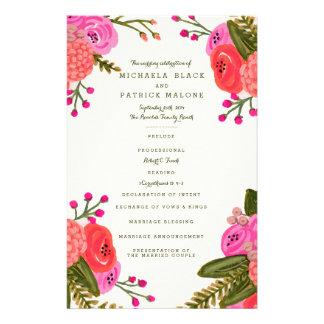 Vintage Garden Wedding Programs Flyers