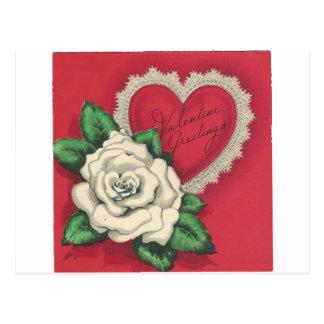 Vintage Gardenia Valentine Postcard