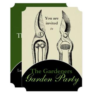 VINTAGE Gardening Tools Garden Party Invitation