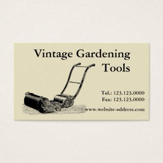 Vintage Gardening Tools Lawn Mower Business Card