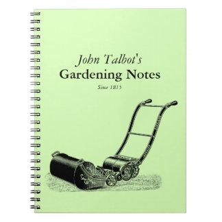 VINTAGE Gardening Tools Lawnmower Garden Notes Notebook