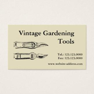 Vintage Gardening Tools Pruners Business cards