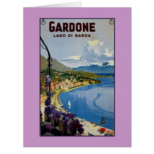 Vintage Gardone Lake Garda Italian travel Card