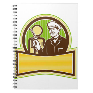 Vintage Gas Attendant Retro Notebook