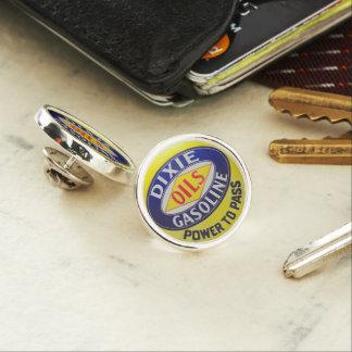 Vintage Gas Pump Dixie Oils Gasoline Hot Rod Era Lapel Pin