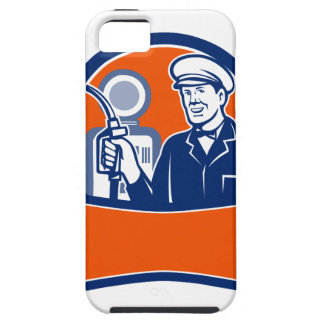 Vintage Gas Station Attendant Circle Retro iPhone 5 Cover