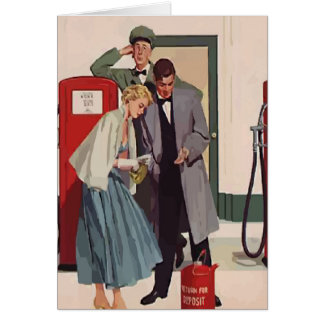 Vintage Gas Station Card