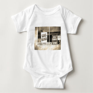 Vintage Gas War Sign Baby Bodysuit