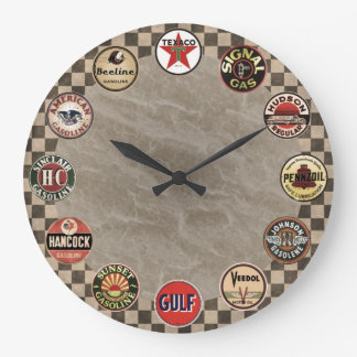 vintage gasoline sign wall clock