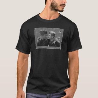 Vintage Gay Kiss Military DADT  Pride Shirt
