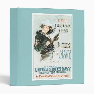 Vintage Gee I wish I were a man Poster Binder