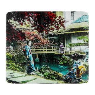 Vintage Geisha at the Kusatsu Tea House Maple Tree Boards