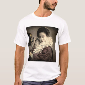Vintage Geisha Making a Midnight Call in Old Japan T-Shirt
