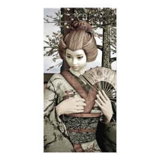 Vintage Geisha Customized Photo Card