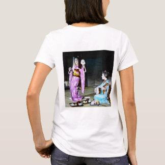 Vintage Geisha Practicing Classic Noh Dancing T-Shirt