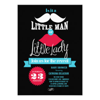 Vintage Gender Revel Baby Shower Invitation